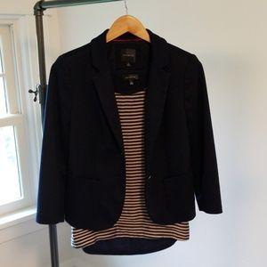 Preppy Limited Navy Knit Blazer Size S